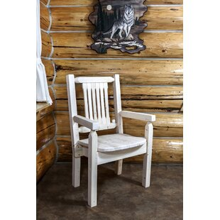 Abella Captain's Solid Wood Dining Chair Loon Peak