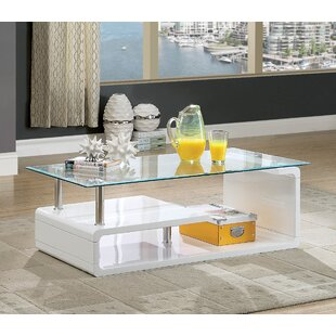 Check Prices Nido Glass Coffee Table by Orren Ellis Reviews (2019) & Buyer's Guide
