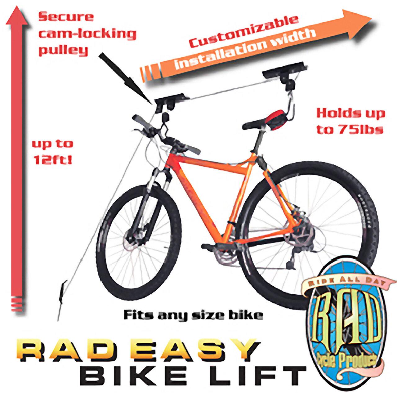 Support Velo Au Plafond garage mountain bicycle hoist ceiling mounted bike rack