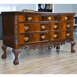 Londyn Mahogany Ball and Claw Triple 7 Drawer Dresser by Astoria Grand