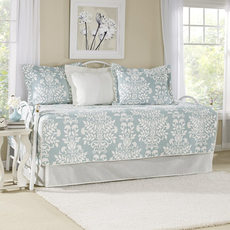 Laura Ashley Home Rowland Breeze 5 Piece Twin Daybed Quilt Set by ...