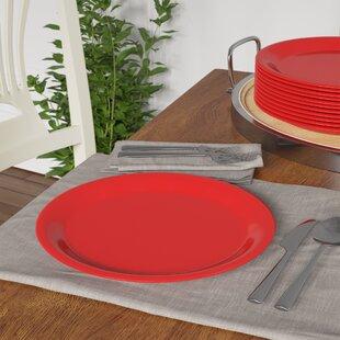 Olanta Melamine Narrow Rim Round Plate 10.5 Dinner Plate