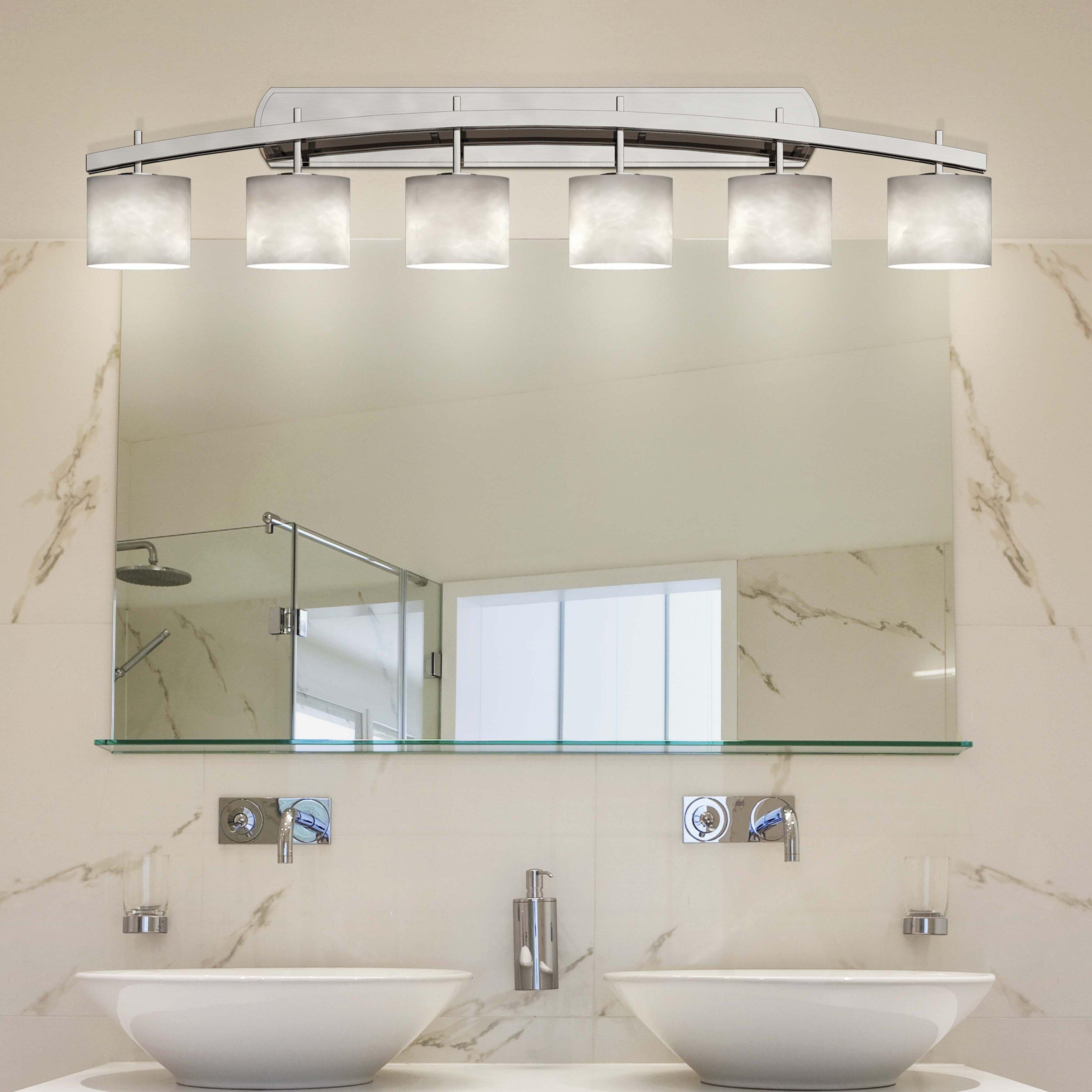 Brayden Studio Genaro Oval 6 Light Vanity Light Wayfair
