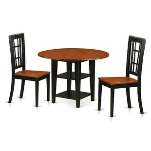 Tyshawn 3 Piece Drop Leaf Breakfast Nook Dining Set By Charlton Home  Spacial Price