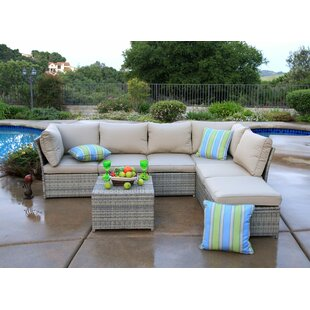 Goulding 7 Piece Sectional Set with Cushions by Rosecliff Heights