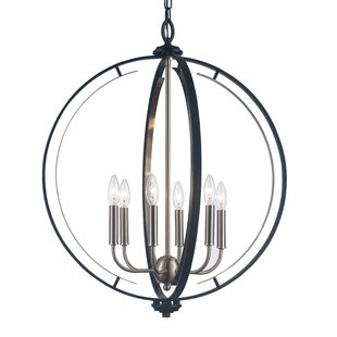 Charlton Home Terrell 6-Light Globe Chandelier