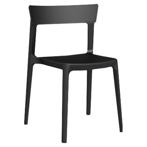 skin armless stacking chair set of 2