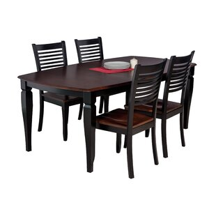 Besse Traditional 5 Piece Solid Wood Dining Set