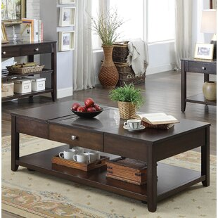 Great Price Candleick Lift-Top Coffee Table by Latitude Run
