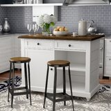 Gilchrist Kitchen Island Set with Manufactured Wood Top by Darby Home Co