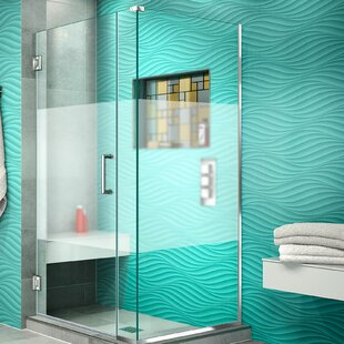 Unidoor Plus 31 x 72 Hinged Frameless Shower Door with Clear Max Technology by DreamLine