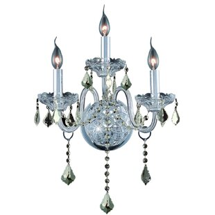 Astoria Grand Pinkston 3-Light Power Source Candle Wall Light
