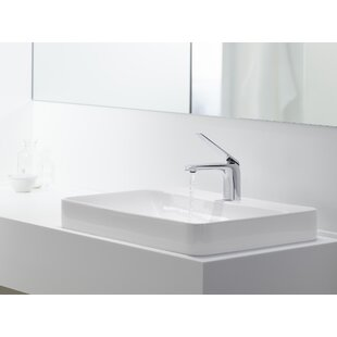 Find Vox Rectangular Vessel Bathroom Sink with Overflow By Kohler
