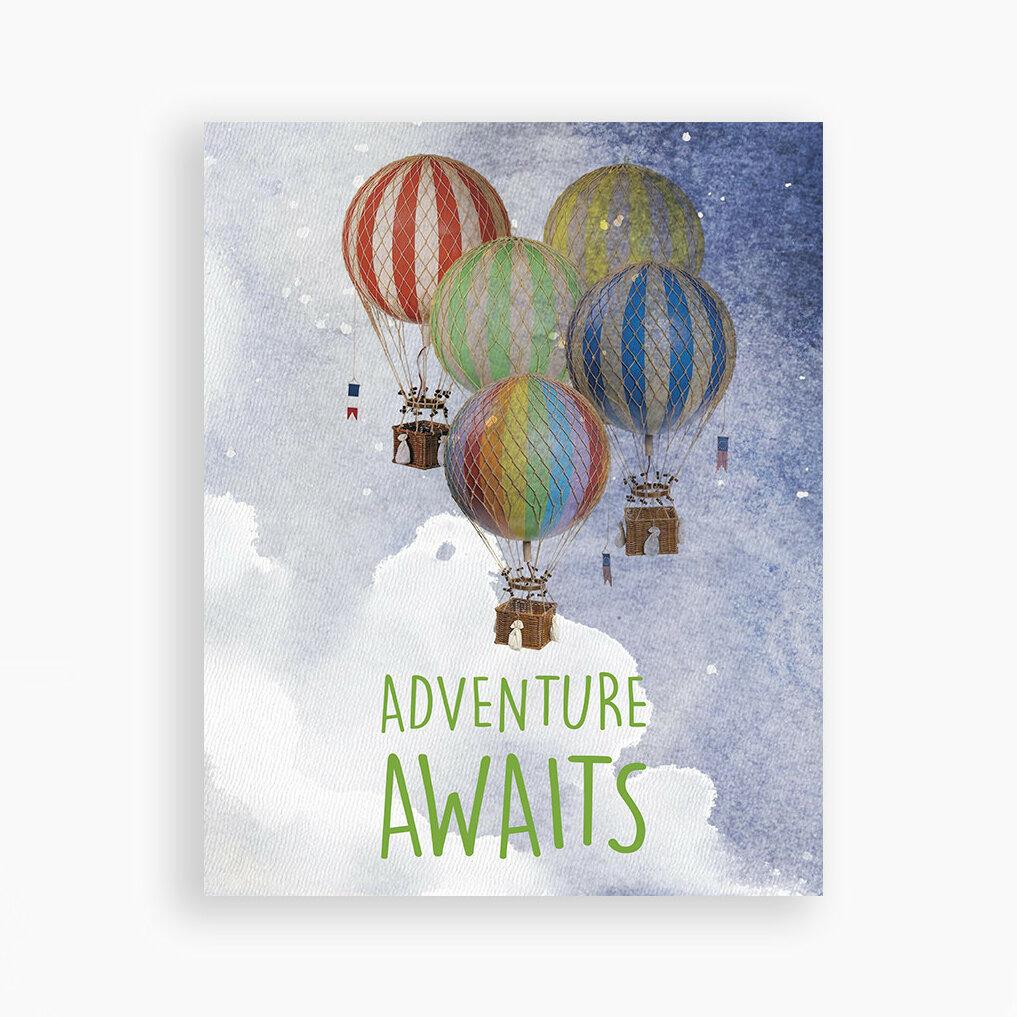 Children Inspire Design Adventure Awaits Hot Air Balloons Paper
