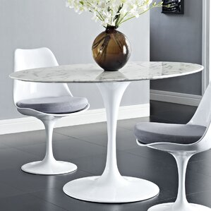 Julien Oval Aluminum Dining Table by Langley Street