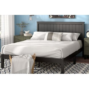 King bed frame wood Grey Holstein Platform Bed Wayfair King Size Wood Beds Youll Love Wayfair