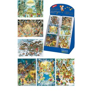Korsch Assorted Advent Cards with Box (Set of 60) by Alexander Taron