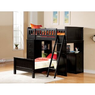 Edgebrooke Twin Over Twin L-Shape Bunk Bed by Harriet Bee Great price