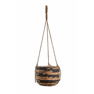 Wolfforth Natural Fibre Hanging Basket By Bay Isle Home