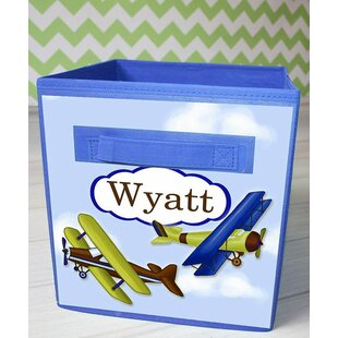 Airplane Personalized Fabric Bin By Toad and Lily