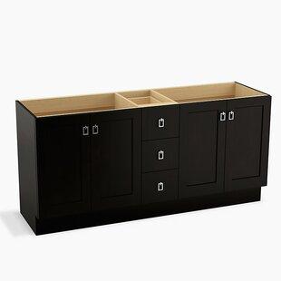 Poplin? 72 Vanity with Toe Kick, 4 Doors and 3 Drawers by Kohler