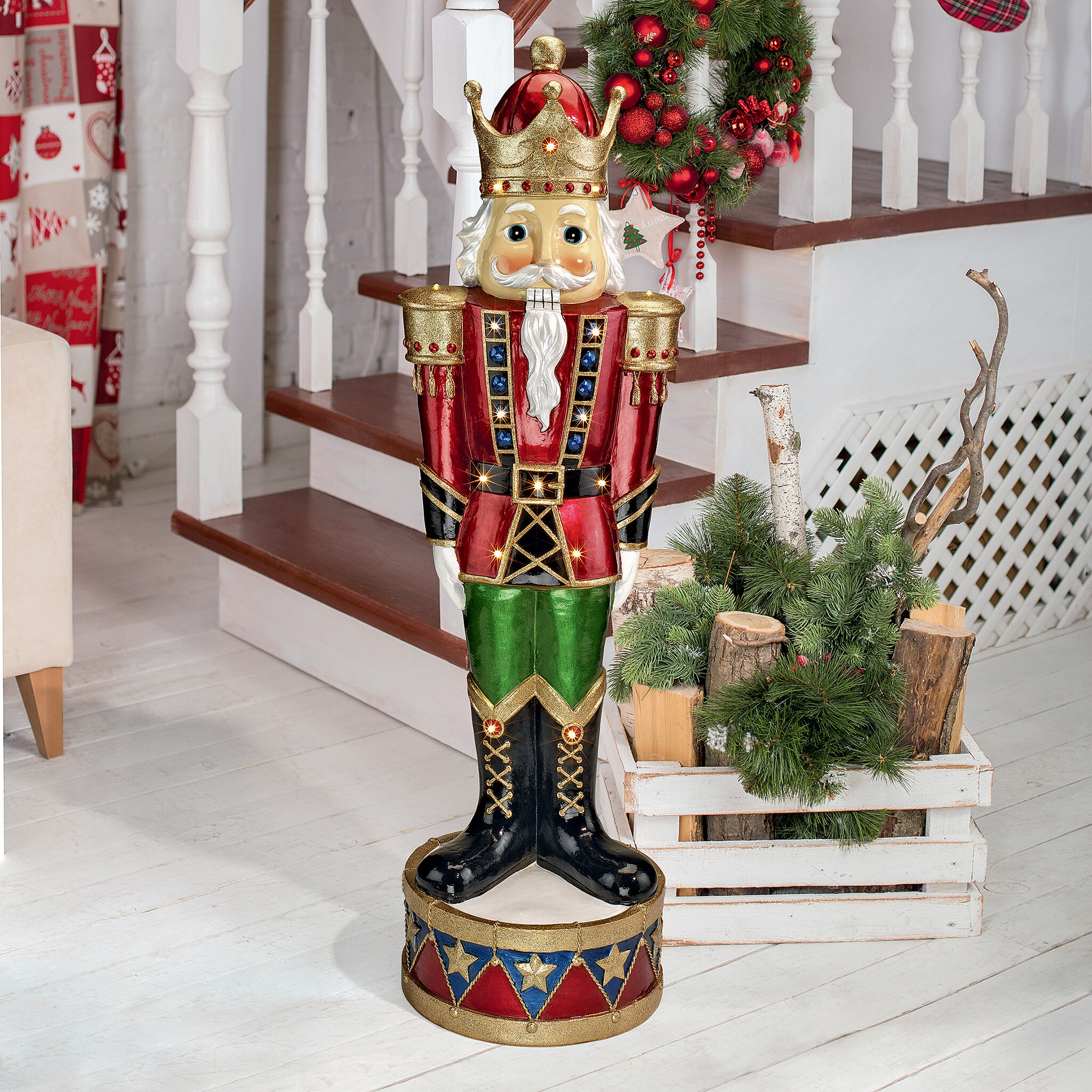 Christmas Statue Decorations: Design Toscano Illuminated Nutcracker Figurine & Reviews
