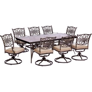 Carleton 9 Piece Bold & Eclectic Modern Dining Set With Cushions By Fleur De Lis Living