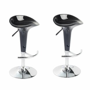 Albritton Adjustable Height Swivel Bar Stool (Set of 2) by Orren Ellis