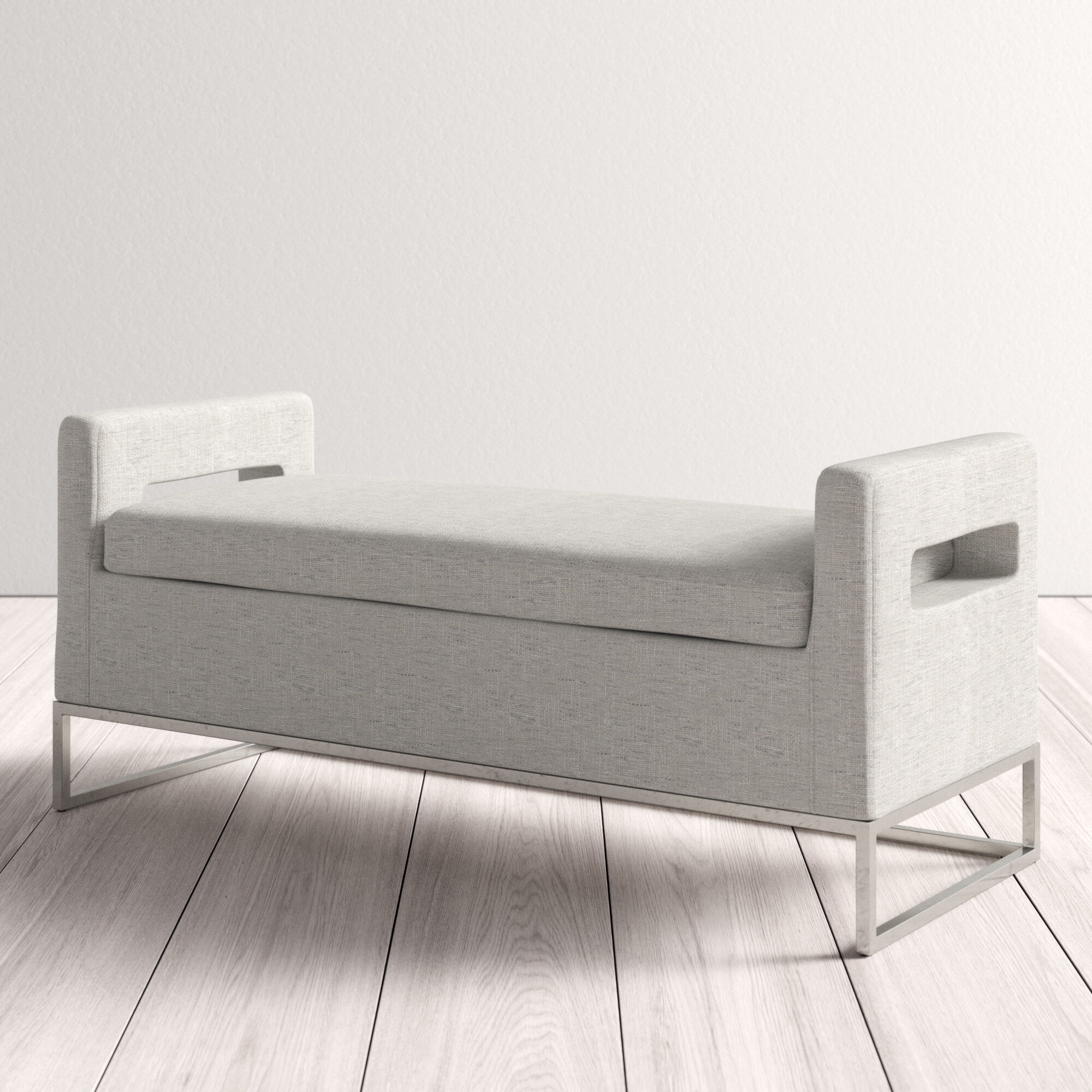 Pelton Upholstered Storage Bench Reviews Allmodern