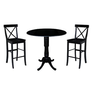 Kimble 3 Piece Pub Table Set Rosecliff Heights