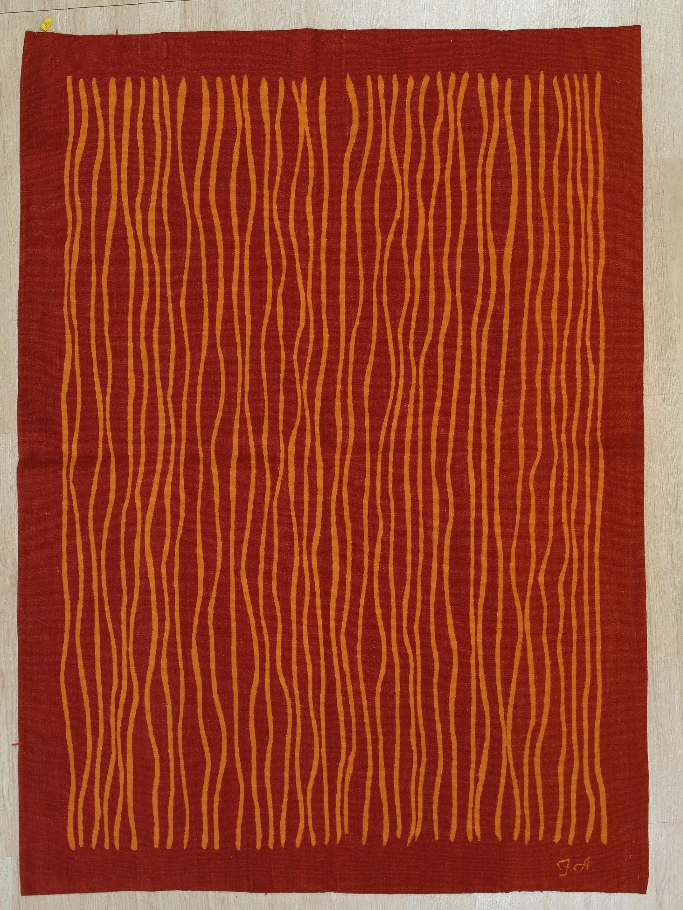 Latitude Run Jocelin Handmade Flatweave Wool Red Gold Area Rug Wayfair
