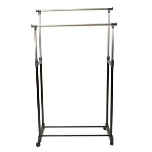 Price Check 32 Double Tier Adjustable Height Rolling Garment Rack By Simplify