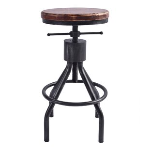 Fleur Adjustable Height Swivel Bar Stool by 17 Stories
