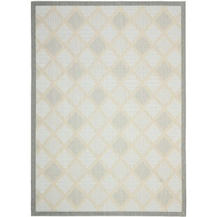 Herefordshire Gray/Black Indoor/Outdoor Area Rug by Winston Porter