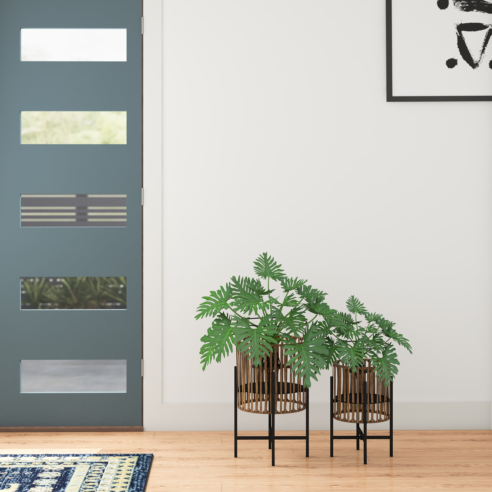 Modern Rattan Planters You Ll Love In 2021 Wayfair