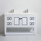 Thome 49 Double Bathroom Vanity Set by Everly Quinn
