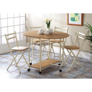 Sand Hill Extendable Dining Set With 4  Chairs By 17 Stories