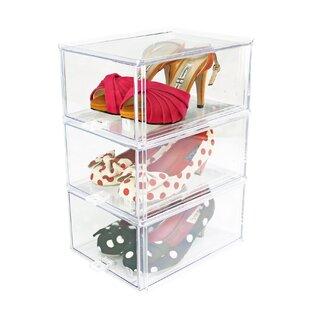 Sliding Shoe Storage Cabinet By Symple Stuff