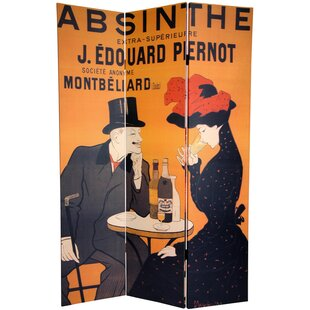 Winston Porter Plaisance Absinthe 3 Panel Room Divider