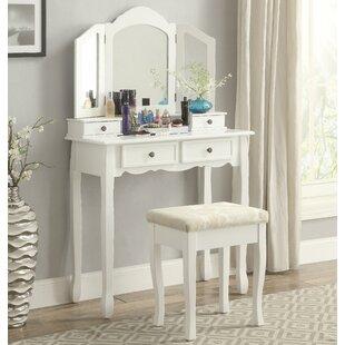 Cargo Wooden Vanity Set With Mirror