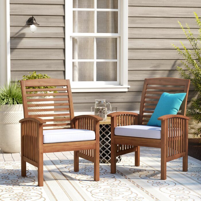 Tim Patio Dining Chair with Cushion