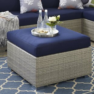 Highland Dunes Heiner Ottoman with Cushion