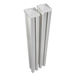 White fence post Square Traditional Fence Post set Of 2 Wayfair Outdoor White Fence Wayfair