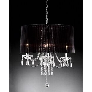 ORE Furniture Crystal Drop 4-Light Chande..