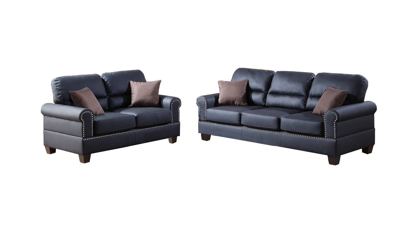 Charlton Home® Boyster 2 Piece Faux Leather Living Room Set