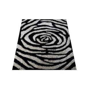Best Choices Brazier Hand-Tufted Black/White Area Rug By House of Hampton