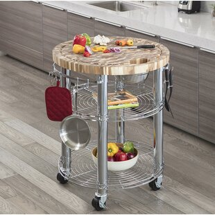 Jurado Kitchen Cart with Wood Top by Symple Stuff