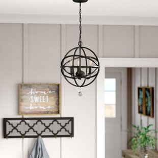 Gracie Oaks Eastcote 3-Light Globe Chandelier