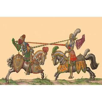 Buyenlarge Lances At The Thrust Between Knights By Hector Mair Paulus Unframed Graphic Art Print