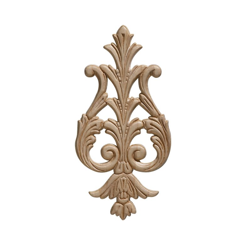 Ornamental Mouldings Birch Large Acanthus Drop 9 38 H X 4 63 W X 0 22 D Onlay Scroll Reviews Wayfair